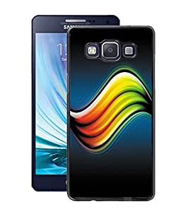 Fuson PVC-2D Metallic Pinted Duptta Designer Back Case Cover for Samsung Galaxy A5 SM-A500F-D1069