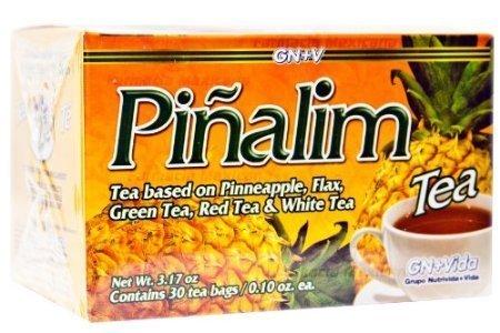 Pinalim Tea/Te de Pinalim Mexican Version- Pineapple, Flax, Green Tea, & White Tea - 30 Day Supply by SmileMore