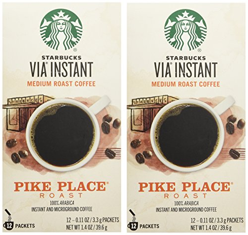 Starbucks VIA Ready Brew Pike Place Roast Coffee 12 Count - Pack of 2 (Starbucks Via Coffee compare prices)