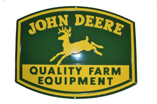 John Deere Metal 1950 Logo Embossed Quality Equipment Sign