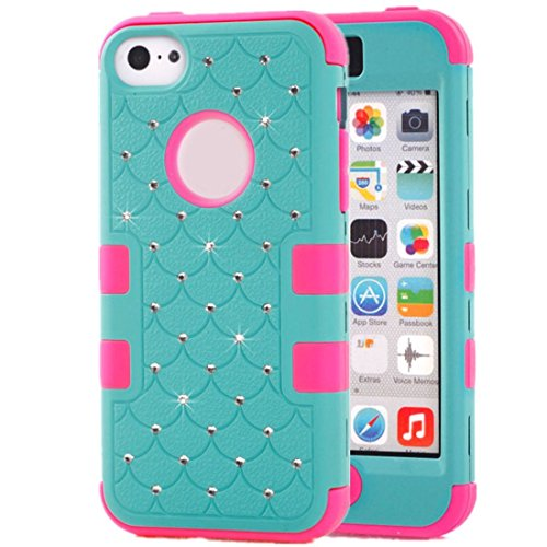 Buy Bargain Willtoo? Fashion Rubber Hybrid Hard Silicone Shockproof Case Cover Skin for Iphone 5c (b...