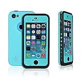 OFTEN Waterproof Shockproof Dirtproof Heavy Duty Hard Case Cover for Apple iPhone 5C (light blue)