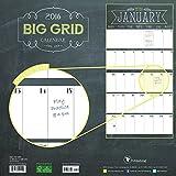 2016 Big Grid Chalk Wall Calendar