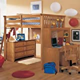 Lea Industries Abby Full Loft Bed with Tent Option - ADL785