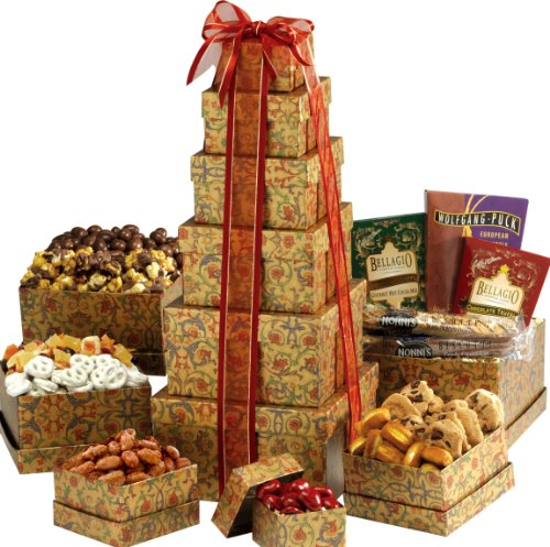 Broadway Basketeers Valentines Day Ultimate Gourmet Gift Tower