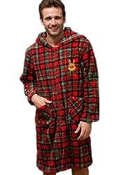 Men's Xmas Style Warmth Coral Velvet Robes
