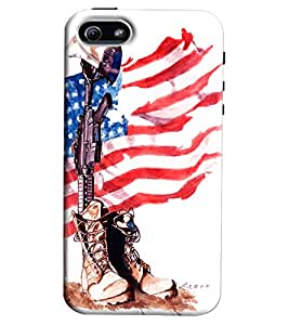 Blue Throat Us Flag Hard Plastic Printed Back Cover/Case For Apple iPhone 6