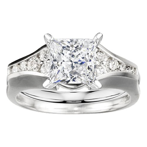 sterling silver ring wrap enhancer 0 25 crt cubic