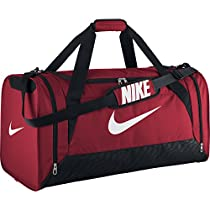 Nike Brasilia 6 Large Duffle Bag (GYM RED/BLACK//WHITE)