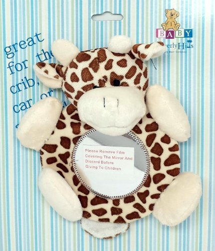 Giraffe, Baby Mirror, for Crib, with Strap, By Beverly Hills - 1