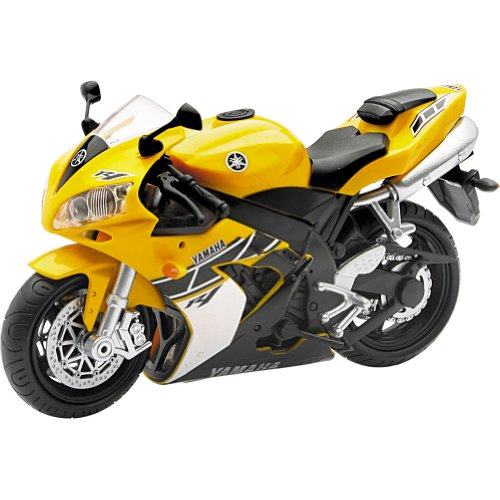 New Ray Yamaha R-1 Replica Motorcycle Toy - Yellow / 1:12 Scale