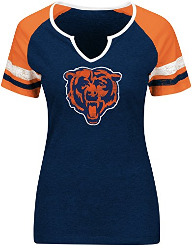 NFL Sweet Game Short Sleeve Raglan Fashion Top Chicago Bears Navy/Orange/White Size X-Large (Chicago Bears Womens Jersey compare prices)