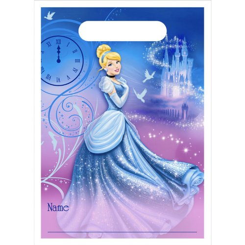 Cinderella 'Sparkle' Favor Bags (8ct) - 1