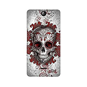 Mobicture Skull Abstract Premium Printed Case For Micromax Canvas Juice 3 Q392