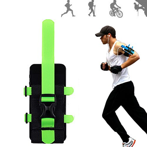 Moon Monkey Nylon Polyamide Sports Armband For Iphone 5, 5S, 5C 4S,4,Galaxy S4,Note 2/3 Phone Holder With Strap For Running (Green)