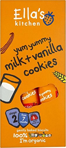 Ella'S Kitchen Organic Yum Yummy Milk + Vanilla Cookies In Packs (6 Per Pack - 108G)