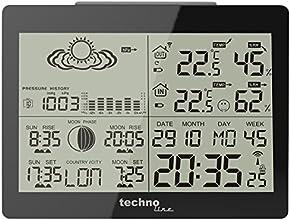 Technoline WS 6760 Station Météo avec Horloge Noir