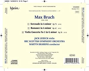 Bruch:Violin Concerto [Jack Liebeck; BBC Scottish Symphony Orchestra,Martyn Brabbins] [HYPERION : CDA68060] by Hyperion