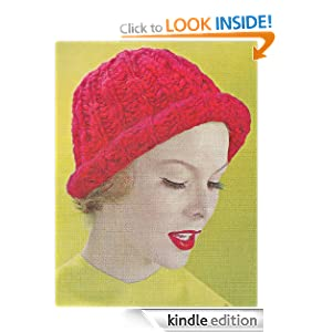 ABC Knitting Patterns - Faux Fur Trimmed Hat for American Girl Doll.