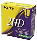 Sony 10MFD2HDLF 2HD 3.5-Inch IBM Formatted Floppy Disks (10-Pack)