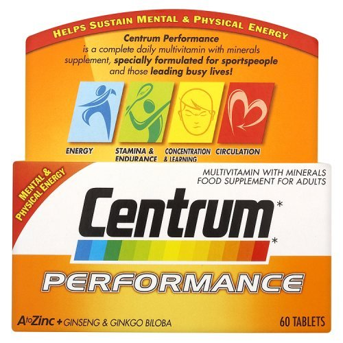Centrum Performance Multivitamin & Minerals Plus Ginseng & Ginkgo Biloba Supplement 60 Tablets