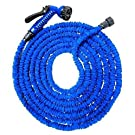 Garden Hose ,100FT,7-pattern Spray Nozzle and Shut-off Valve and Universal Water Hose Connectors,Shrinking Hose, DAP Xhose,water Garden