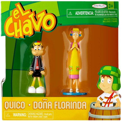 El Chavo, Figure 2-Pack, Quico & Dona Florinda, 2.75 Inches - 1