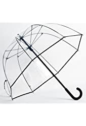 Elite Rain Umbrella Premium Fiberglass Bubble Umbrella - White