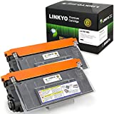 LINKYO Compatible Replacement for Brother TN750 TN720 High Yield Toner Cartridge (Black, 2-Pack)