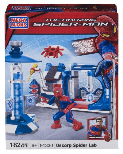Mega Bloks Spiderman 4 Oscorp Spider Lab Amazon.com