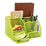 Joinwin® Hot New Multipurpose Green Metal Mesh 6 Compartment Desk Organizer Office Supply Caddy (Green)