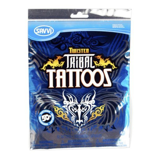 Twisted Tribal '12, Over 50 Temporary Tattoos - 1