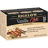 Bigelow Vanilla Chai Tea Bags, 20-Count Boxes (Pack of 6), Black Tea Bags with Spices and Vanilla Flavor, Rich in Antioxidants (Tamaño: Pack of 6)