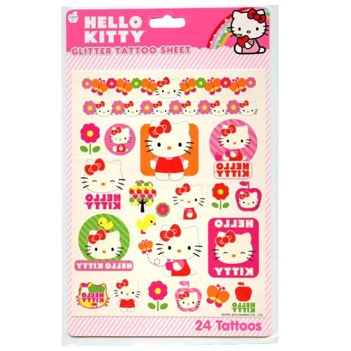 Hello Kitty Glitter Tattoo Sheet 2 Sheets #41937 - 1