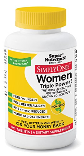 SuperNutrition Simply One Women's Multivitamin Tablet, 90 Count (Super Nutrition Simply One compare prices)