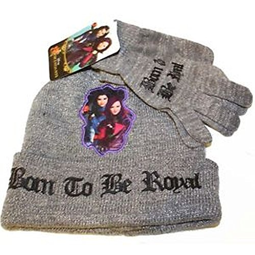 newest collection b6694 faa17 Disney Descendants Girls Lurex Hat and Gloves Set (Grey)