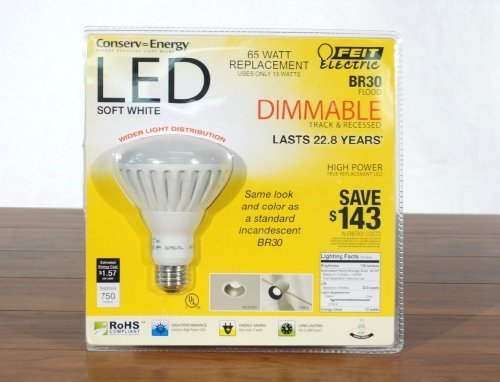 Feit Electric Br30 Flood Dimmable 13w/65w LED Light Bulb 750 Lumens 120 Degree Picture