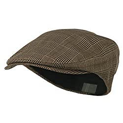 BROWN Plaid Ivy Newsboy Cabbie Cap