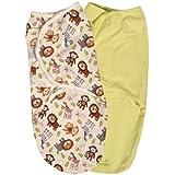Summer Infant SwaddleMe Adjustable Infant Wrap, Jungle Buddies, Small/Medium, 2 Count