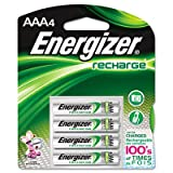Energizer Products - Energizer NIMH Batteries, AAA Size, 4/PK - Sold as 1 PK - NiMH Rechargeable AAA Batteries are designed for high-tech, high-drain devices. Quick and easy to charge. Each lasts for approximately 1,000 charge/discharge cycles (four to five years of normal use). Particularly well-suited for devices requiring high-energy development over a short time. Batteries offer far higher power reserves than standard alkaline manganese batteries. Ideal for everything from digital cameras, p