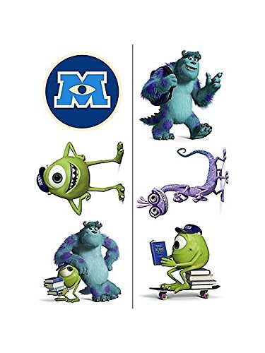 Monsters University Temporary Tattoos (2 Sheets)
