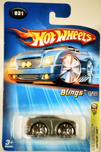 Mattel Hot Wheels 2005 Blings 1:64 Scale Silver Chrysler 300C Die Cast Car #031