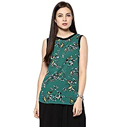 Raindrops Women's Top(1205A007A-Green-L)