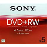 Sony DVD+RW (4X Speed) 5pkby Sony