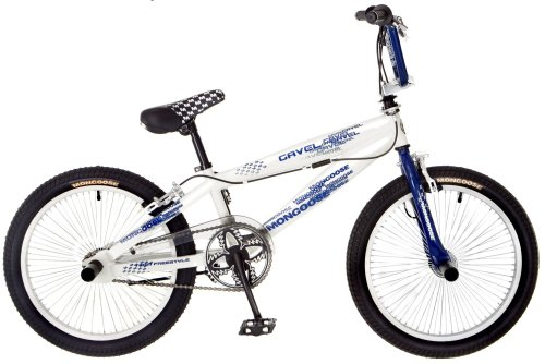 Mongoose Gavel Boy's Freestyle Bike (20-Inch Wheels, White/Navy)