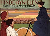 ADVERT BICYCLE NETHERLANDS AMSTERDAM VINTAGE POSTER ART PRINT 12x16 inch 30x40cm 792PY