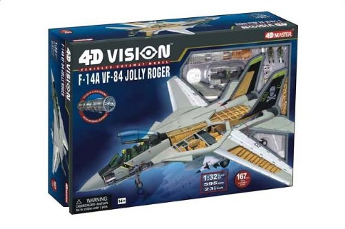 1:18 Fame マスター 4D Vision 26121 Grumman F-14A トムキャット Snap Kit USN VF-84 Jolly Rogers, AJ201並行輸入品