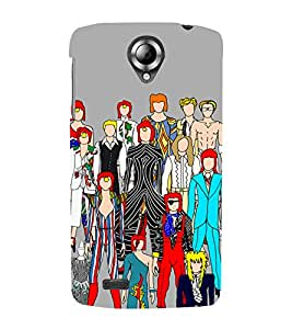 PrintVisa Funky Group People Design 3D Hard Polycarbonate Designer Back Case Cover for Lenovo S820