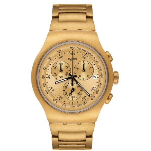 Swatch Men's Irony YOG402G Gold Stainless-Steel Quartz Watch with Gold Dial