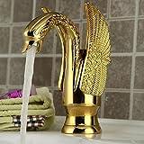 robinet en laiton doré cygne Robinet villa de luxe...